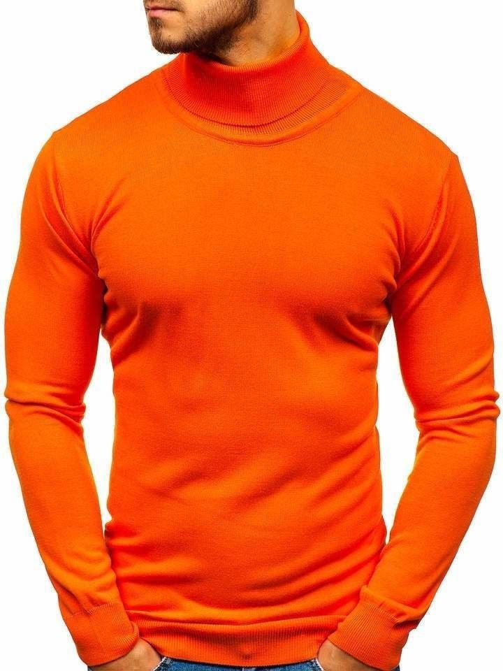 pomarańczowy golf męski